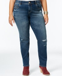 American Rag Plus Size Ripped Skinny Jeans Cecily Wash