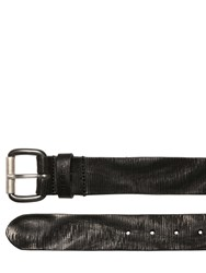 Diesel 39Mm Laser Cut Leather Belt