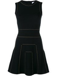 Valentino Studded Knitted Dress Black