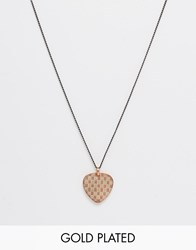 Simon Carter Dogtag Style Necklace In Rose Gold Exclusive To Asos Gold