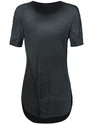 Lost And Found Washed Oversize T Shirt Grey