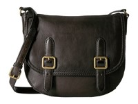 Frye Claude Crossbody Charcoal Tumbled Full Grain Handbags Black