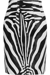 Topshop Unique Vaughn Zebra Print Calf Hair Skirt Zebra Print