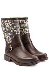 Ugg Australia Rubber Sivada Boots With Printed Shaft Multicolor