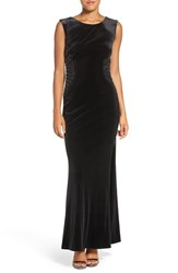 Laundry By Shelli Segal Women's Embellished Stretch Velvet Gown
