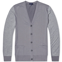 Lanvin Tricolour Panel Cardigan Grey Mix