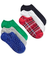 Hue Women's 6 Pk. Cotton No Show Socks Plaid Pack
