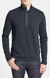 Men's Boss 'Persano' Regular Fit Quarter Zip Sweatshirt Navy