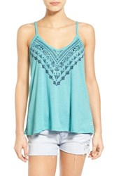 Women's Roxy 'Get Free' Print Scoop Back Tank