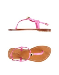Mystique Thong Sandals Fuchsia