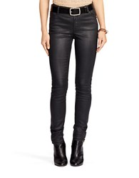 Lauren Ralph Lauren Coated Skinny Jean Black