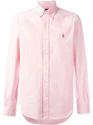 Polo Ralph Lauren Button Down Collar Shirt Pink Purple