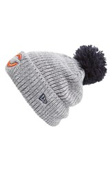 Men's New Era Cap 'Cuff Star Chicago Bears' Pompom Knit Beanie
