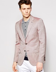 Reiss Pastel Blazer In Slim Fit Rosered