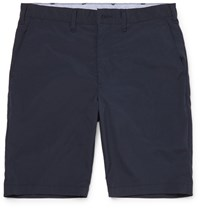 Beams Plus Slim Fit Shell Shorts Blue