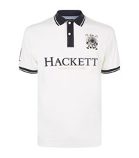 Hackett Embroidered Snow Polo Shirt Male White