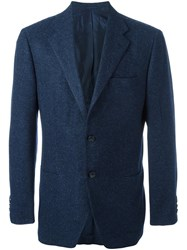 Kiton Two Button Blazer Blue