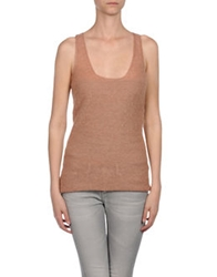 Nuur Sleeveless Sweaters Coral