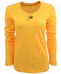 Antigua Women's Long Sleeve Indiana Pacers Logo T Shirt Gold