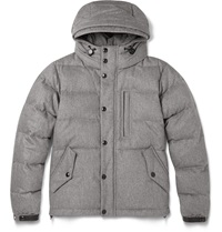 Burberry Burlshaw Down Filled Quilted Wool And Cashmere Blend Jacket Gray