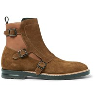 Alexander Mcqueen Suede And Leather Chelsea Boots Camel