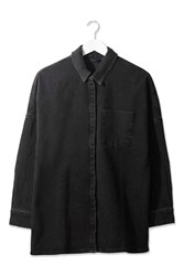 Washed Batwing Shirt By Boutque Charcoal