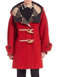 Burberry Oversized Duffle Coat Military Red