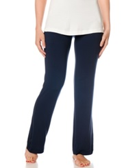 A Pea In The Pod Ruched Bootcut Maternity Pajama Pants Navy