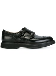 Church's Perforated Detailing Monk Shoes Black