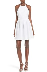 Women's Steppin Out Embellished Halter Skater Dress