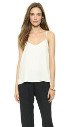 Theory Double Georgette Vaneese Camisole Ivory