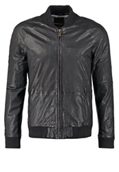 Scotch And Soda Leather Jacket Antra Anthracite
