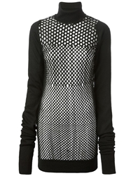Jean Paul Gaultier Vintage Honeycomb Knit Jumper Black