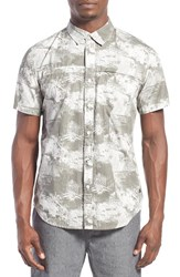 Men's Tavik 'Shin' Regular Fit Short Sleeve Print Woven Shirt Bone Grey Napalm