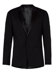 Topman Men's Cut Away Front Skinny Fit Tuxedo Jacket Black
