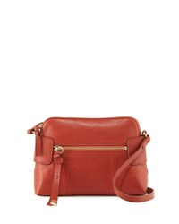Foley Corinna Emma Leather Crossbody Bag Rust