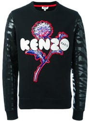 Kenzo Dandelion And Tiger Stripes Sweatshirt Black
