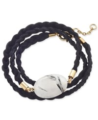 Inc International Concepts Gold Tone Semi Precious Stone Braided Wrap Bracelet Only At Macy's Rutilated Quartz