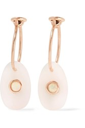 Pascale Monvoisin Orso 9 Karat Rose Gold Opal Earrings