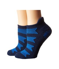 Adidas Studio 2 Pack No Show Socks Collegiate Navy Blue Shock Pink Women's No Show Socks Shoes