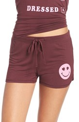 Junk Food Women's Smiley Face Jersey Lounge Shorts