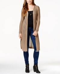 It's Our Time Juniors' Maxi Cardigan Bark