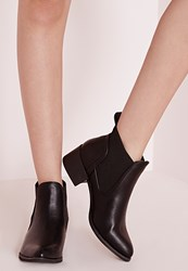 Missguided Pointed Toe Chelsea Boots Black Black