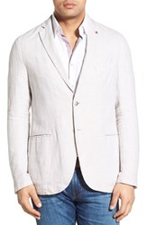 Men's Stone Rose Regular Fit Linen Sport Coat Cream