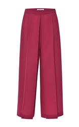 Blumarine Red Pleated Wide Leg Pant
