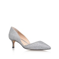 Vince Camuto Premell Low Heel Court Shoes Silver