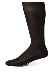 Falke Solid Silk Dress Socks Black