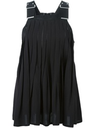 Diesel Black Gold Pleated Top