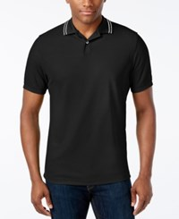 Club Room Men's Big And Tall Sporty Pique Polo Only At Macy's Deep Black