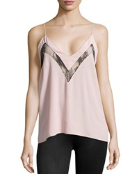 Lovers Friends Last Goodbye Lace Inset Cami Powder Pink